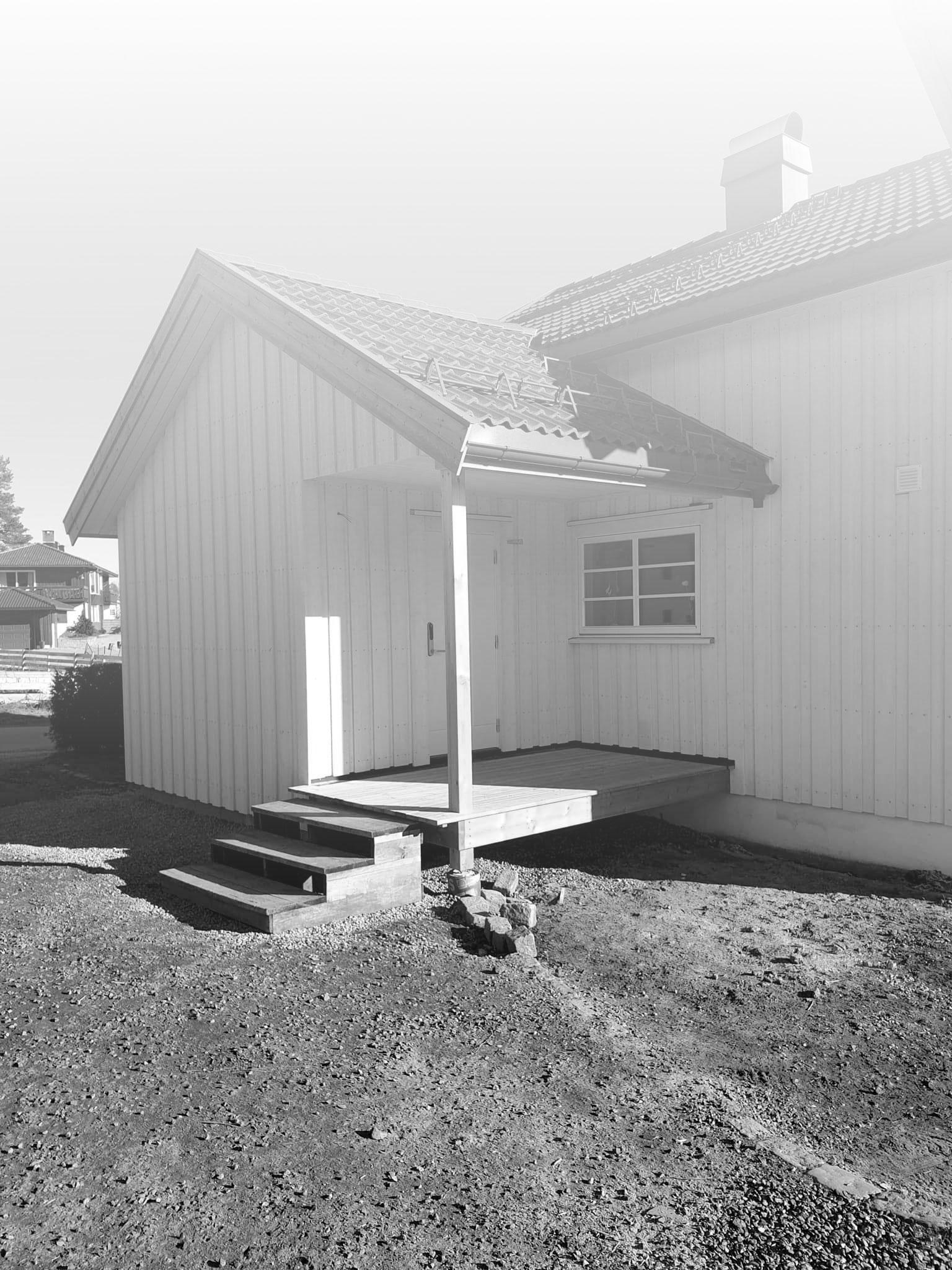 hus bygget av tømrer i Skien